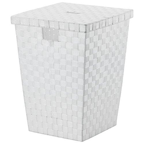 kela Wäschebox Alvaro weiß PP-Faserband, Polypropylen, 40 x 40 x 52 cm