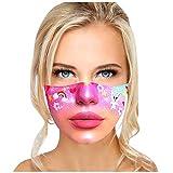 Mundschutz 3D Lustige Maske Erwachsene Waschbar Stoffmaske Mehrweg Atmungsaktiv Tuch Halstuch Bandana Motive Mund und Nasenschutz Wiederverwendbar Multifunktional Staubschutz (E)