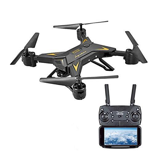 XIAOKEKE 601S Drone con Telecamera HD 4K Drone Pieghevole WiFi FPV Drone Professionale Quadricottero Telecomando Sospensione Altitudine Un Pulsante di Decollo/Atterraggio,Nero
