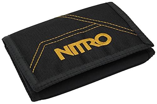 Nitro Wallet, Geldbörse, Geldbeutel, Portemonnaie, Münzbörse, 10 x 14 x 1 cm, Golden Black