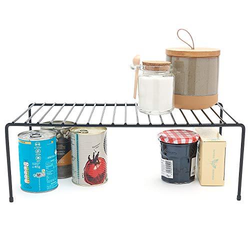 simplywire - Kitchen Cupboard Organiser - Storage Shelf - Wire Rack - Black