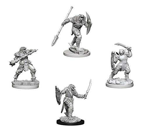 Dungeons & Dragons Nolzur's Marvelous Unpainted Miniatures Bundle: Dragonborn Male Fighter with Spear + Dragonborn Female Paladin