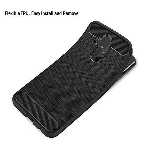 AICEK Hülle Compatible Huawei Mate 20 Lite, Schwarz Silikon Handyhülle für Huawei Mate 20 Lite Schutzhülle Karbon Optik Soft Case (6,3 Zoll) - 3