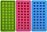 Bekith 40 Mini Ice Cube Trays, Easy Pop Out Silicone Candy Grids Ice Maker, Perfect for Kitchen Bar Party...