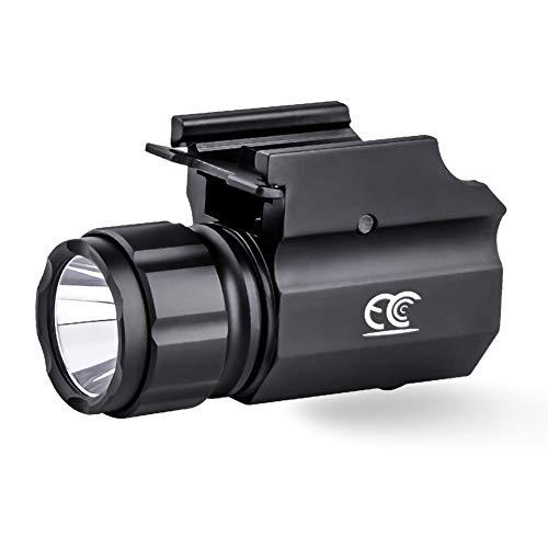 MCCC Tactical Gun Light, 2-Mode Handgun Torch Pistol Light with 1 x CR2 Battery, LED Strobe Flashlight