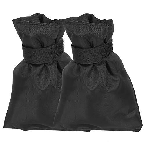 YUUGAA Protector de Grifo de Invierno, 2 Piezas Negro Protector de Grifo de Invierno al Aire Libre Accesorio de Cubierta de válvula de Grifo de Agua anticongelación 15x21cm