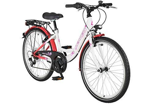 tretwerk DIREKT gute Räder Little Queen 24 Zoll Mädchen-Fahrrad, Jugendrad 6 Gang Kettenschaltung