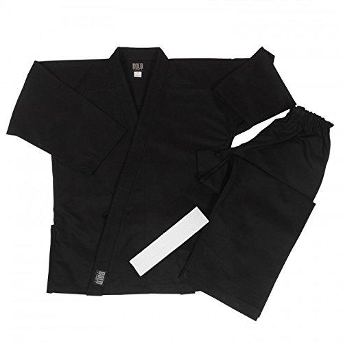 8.5 oz Super-Middleweight Karate Uniform (6, Black)