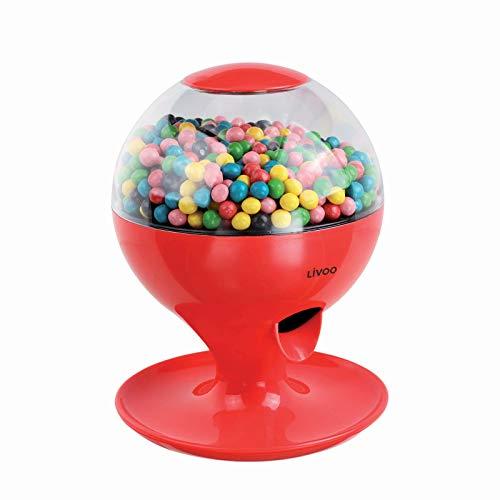 Dispensador de caramelos automático con sensor de movimiento (funciona con pilas, tapa extraíble, rojo)