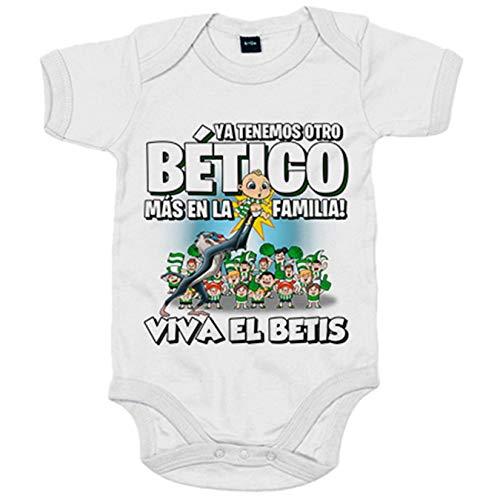 Body bebé ya tenemos otro Bético más en la familia Betis fútbol - Blanco, 6-12 meses