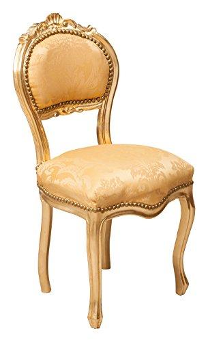 Juego de 2 sillas francesas Luis XVI en madera maciza de haya L42XPR45XH90 cm.