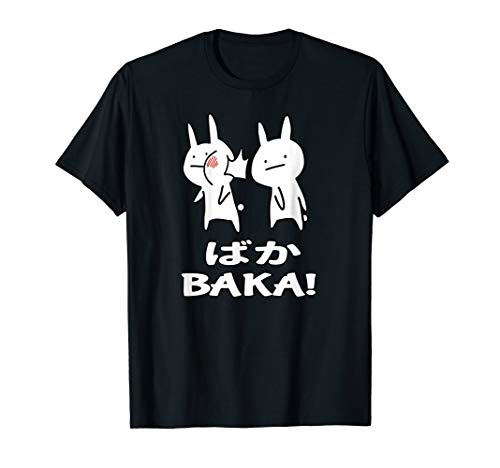 Lustiges Japan Baka Rabbit Ohrfeigen Anime und Manga T-Shirt