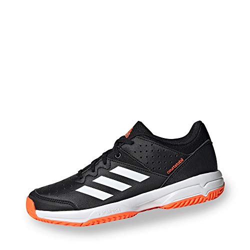 adidas Performance Court Stabil Handballschuh Kinder schwarz/orange, 37 1/3 EU - 4.5 UK - 5 US