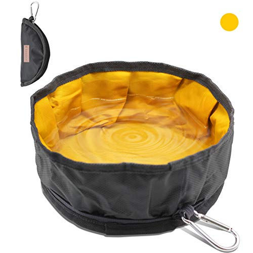 LumoLeaf Collapsible Dog Travel Bowl, 1 Pack Large Lightweight Foldable Bowl, Water and Food Bowls...