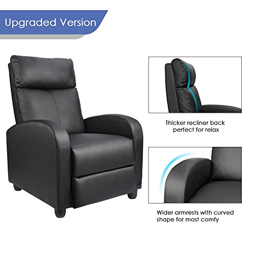 Homall Recliner Chair Padded Seat Pu Leather for Living Room Single Sofa...