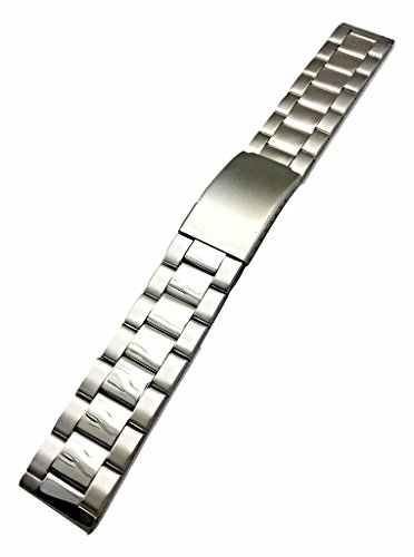 20mm Metal Watchband by NewLife | Men's Women's Silver Stainless Steel Strap Replacement Wrist Band Bracelet with Clasp That Brings New Life to Any Watch
