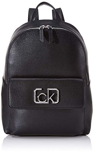 Calvin Klein Damen Ck Cast Backpack Schultertasche, Schwarz (Black), 13x35x28 centimeters