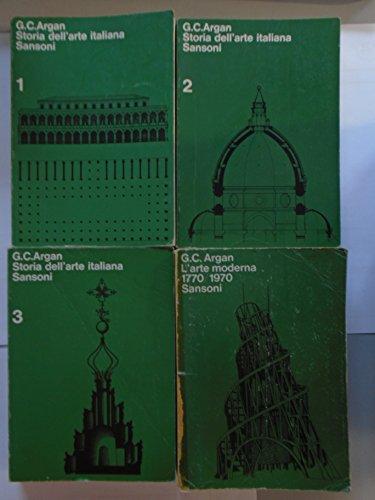 storia dell'arte italiana ARGAN volumi I II III + arte moderna 1770/1970