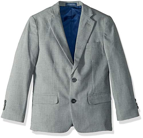 Calvin Klein Big Boys' Patterned Blazer Jacket, Blue Weave, 12