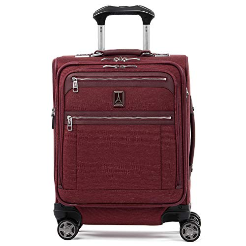 Travelpro Luggage Platinum Elite 20' Carry-on Intl Expandable Spinner w/USB Port, Bordeaux