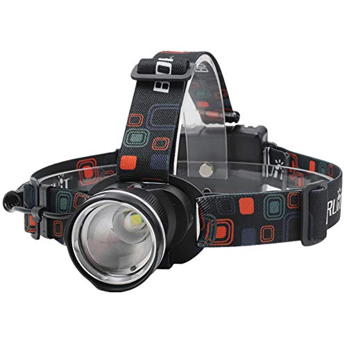 LEDヘッドライト 防水 超高輝度 1000ルーメン 90°角度調節 ズーム機能付き 単3電池式 釣り/バイク/停電時用