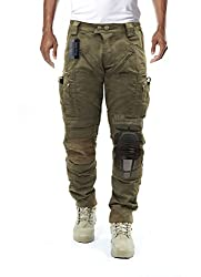 Survival Tactical Gear Men's Airsoft Wargame Tactical Pants with Knee Protection System & Air Circulation System