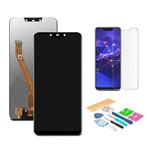 Pantalla LCD Táctil Asamblea Repuesto Compatible con Huawei Mate 20 Lite Negro con Herramientas + Película Templada Huawei Mate 20 Lite