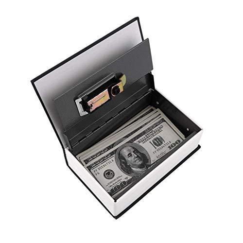 HUIO Caja De Almacenamiento De JoyasDiccionario De Simulación Libro Secreto Caja De Dinero Segura Caja De Almacenamiento De Joyas De Dinero Cerradura De Llave De Seguridaden La Mesa del Escritorio