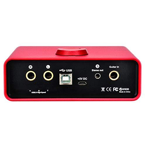 AERJMA Tarjeta de Sonido Externa Interfaz de Audio USB con Herramientas Profesionales,...