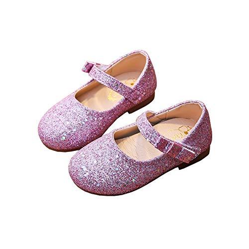 N/P Joeupin Zapatos de ballet para niña con purpurina Mary Jane Princesa...