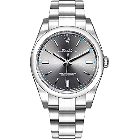 Fashion Shopping Rolex Oyster Perpetual Dark Rhodium Dial Oystersteel Men's Watch Ref. 114300