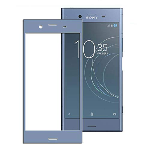 XZ1 Compact ガラスフィルム,[NEKING] Sony Xperia XZ1 Compact フィルム AGC日本製素材 熱彎技術 Xperia XZ1 Compact 専用 全面保護 炭素繊維 強化ガラス 硬度9H 99.9% 極高透過率 厚さ0.15mm/3Dラウンドエッジ 指紋防止 エアーレス加工 二色選択可能 「ブラック」