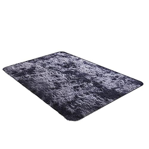 Alfombra de sala de estar/dormitorio ultra suave, moderna, alfombra de guardería, alfombra de felpa para el hogar, habitación, 120 x 60 cm, alfombra moderna, gris oscuro, 60 x 120 cm, ESPAÑA