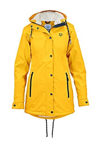 MADSea Damen Regenmantel gefüttert Friesennerz gelb, Farbe:gelb, Größe:48