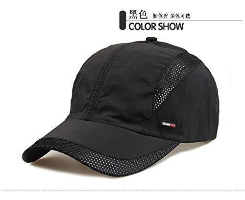 Basecap für Damen, Herren und Kinder,Sonnenschutzhut für den Außenbereich, schnell trocknende, atmungsaktive Baseballkappe, Netzkappe in Schwarz,Baseball Cap Low Profile Hut für Frauen Männer