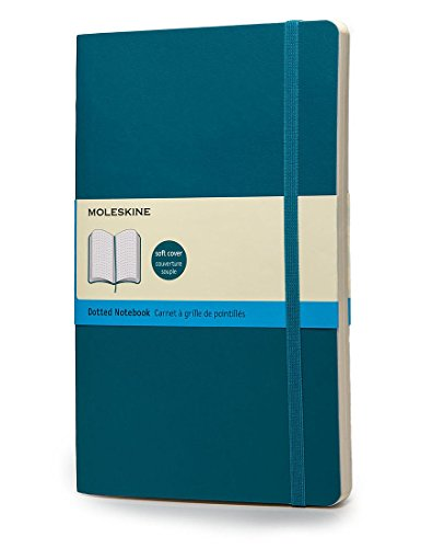 Moleskine Classic Notebook, Soft Cover, Large (5' x 8.25') Dotted, Underwater Blue, 240 Pages