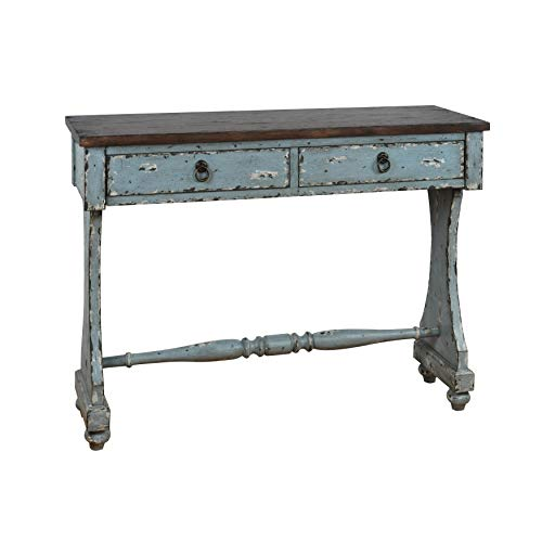 Right2Home Two-Tone Entryway Console Table, Blue