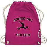 Après Ski - Apres Ski Sölden - Unisize - Fuchsia - turnbeutel apres ski - WM110 - Turnbeutel und Stoffbeutel aus Baumwolle