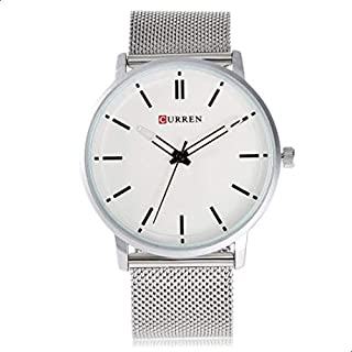 Curren Men's White Dile Stainless Steel Watch 8233