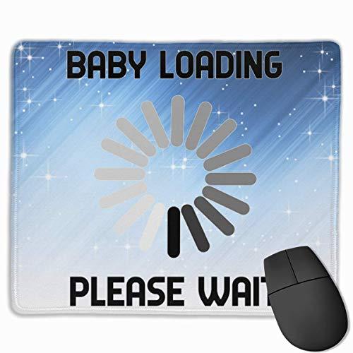 Baby-Laden warten Sie Bitte lustiges Schwangerschafts-Rechteck-rutschfeste GummiMousepad Spiel-Mausunterlage
