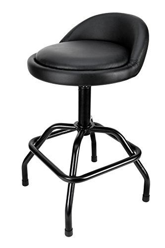 Performance Tool Pneumatic Swivel Bar Stool with Back Support W85011