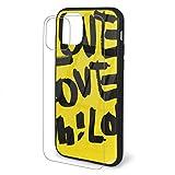 DAWN&ROSE Coque en verre TPU pour iPhone 11 Pro Max Motif Love Love Love Love