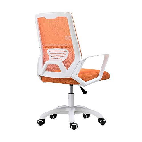 N/Z Tägliche Ausrüstung Stuhl Bürostuhl Einteilige Rückenlehne Computerstuhl Erhöhen der rotierenden Ergonomie Executive Chair für Studentenwohnheime Nennlastkapazität: 150 kg (330 lbs) Orange