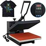 F2C Pro Home 15' X 15' Teflon Digital Clamshell T-Shirt Heat Press Heat Transfer Press Machine
