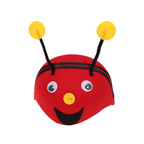 STOBOK Kids Bee Headband Hat Performance Costume Bee Cap Animal Tentacle Head Bopper Stage Cosplay Headpiece for Birthday Carnival Party
