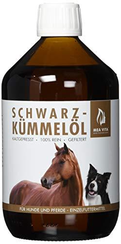 MeaVita Schwarzkümmelöl für Hunde und Pferde, kaltgepresst und 100 Prozent rein, 500 ml