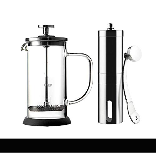 Best Deals! ZHCSS French Press Pot/Coffee and Tea Press Pot Glass Tea Maker Handmade Coffee Filter P...