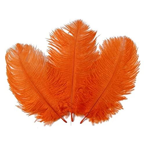 LINGP 10 Piezas 15-20 CM Plumas de Avestruz de Colores para decoración Manualidades de joyería de Bricolaje Accesorios de decoración de Plumas de Avestruz Blanca Plumas de Boda