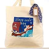 Boys pijama de barco pirata bolsa bolso por la noche los niños equipaje de mano regalo para niños dormir más