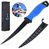 TOPFORT Outdoors Fillet Knife 7 inch, Fishing Knife with Razor Sharp Stainless Steel Blade
